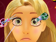 other, cartoon , girl , princess , surgery , rapunzel , eye , doctor