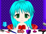 Cute Chibi Anime Hair Salon Game