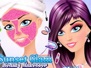 Sunset Glam Beauty Makeover Game