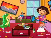 Dora Living Room Cleaning Game