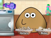 Pou Washing Dishes Game