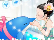 A Dolphin Kiss Game