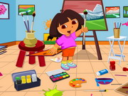 Dora Drawing Room Cleaning Game