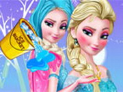 other, girl , makeover,makeup , frozen , elsa , ice , bucket , makeover