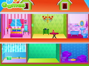 Frozen Sisters Doll House Decor Game