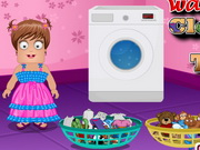 Zoe Washing Clothes And Toys Game