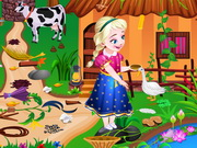 puzzle, boy , frozen , girl , kid , anna , farm , house , cleaning