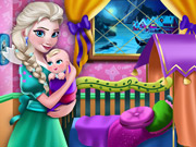 Elsa Mommy Room Deco Game