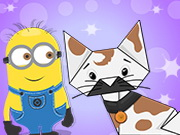 Minion Halloween Origami Cat Game