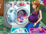 Anna Pregnant Laundry Day Game