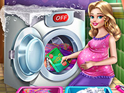 puzzle, girl , kid , mommy , laundry , day