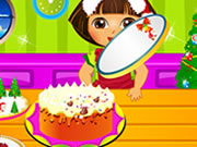 Dora Cooking Christmas Cake Game