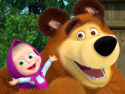 Masha And The Bear Puzzle Game