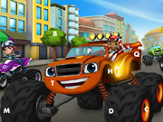 Monster Machines Hidden Letters Game