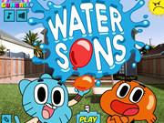 puzzle, ball , boy , cartoon , girl , kid , water , gumball , sons