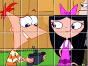 puzzle, boy , cartoon , girl , phineas and ferb , phineas , and , ferb , spin , puzzle