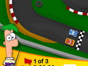 racing, car , cartoon , driving , phineas and ferb , phineas , and , ferb , race