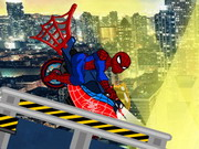 racing, bike , driving , motorcycle , spiderman , spiderman