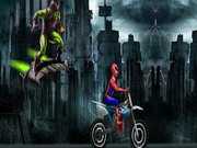 racing, bike , driving , motorcycle , spiderman , spiderman , rush