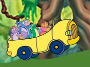 racing, animal , cartoon , dora , driving , girl , monkey , truck , dora , rescue , rush