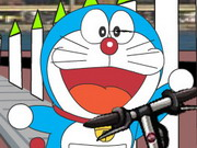 racing, bike , cartoon , doraemon , driving , doraemon , scooter