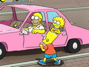 The Simpsons Parking Game Game