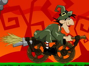 racing, driving , halloween , motorcycle , which , way , witch