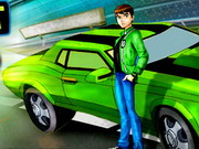 racing, ben 10 , car , cartoon , driving , ben10 , drift