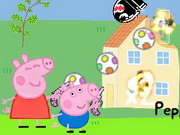 Peppa And George In Alien Invasion Game