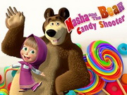 Masha And Bear Candy Shooter Game