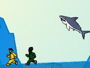 skill, helicopter , killing , water , shark , mountain
