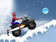 Spiderman Snow Scooter Game
