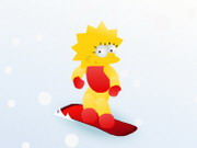 Lisa On Snowboard Game